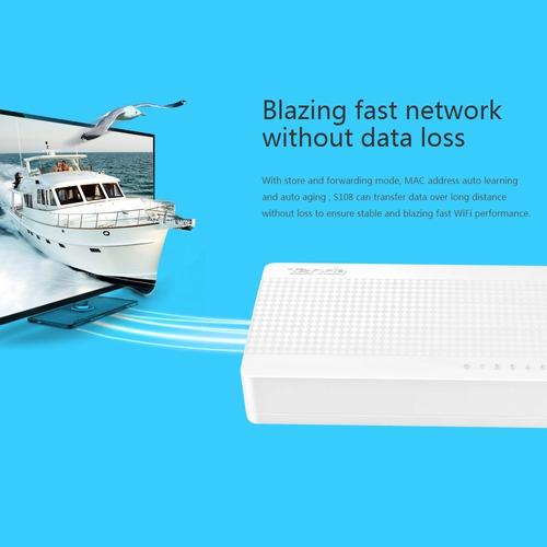 tenda puerto mbps switch fast ethernet red lan hub
