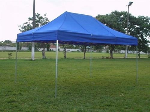 tenda sanfonada  de 3 x 4,5 em nylon