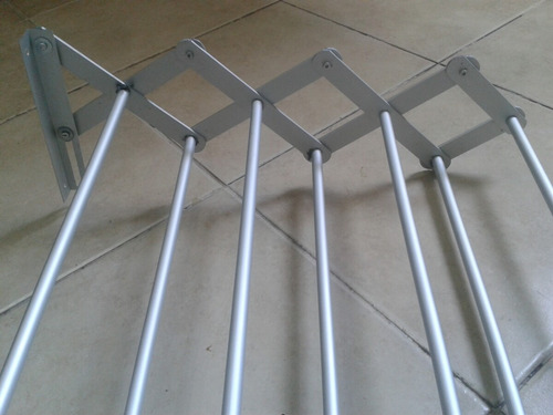 tendedero 80 cm aluminio exterior int 7 varillas inoxidable