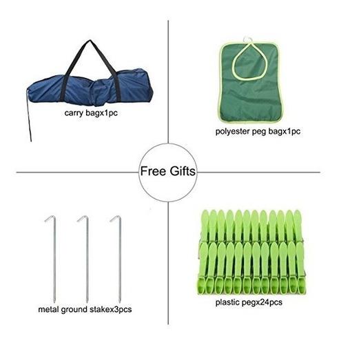 tendedero de ropa drynatural outdoor portable 4-arm alumini