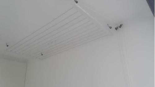 tendedero de techo höllsen con manivela, no se oxida - envío
