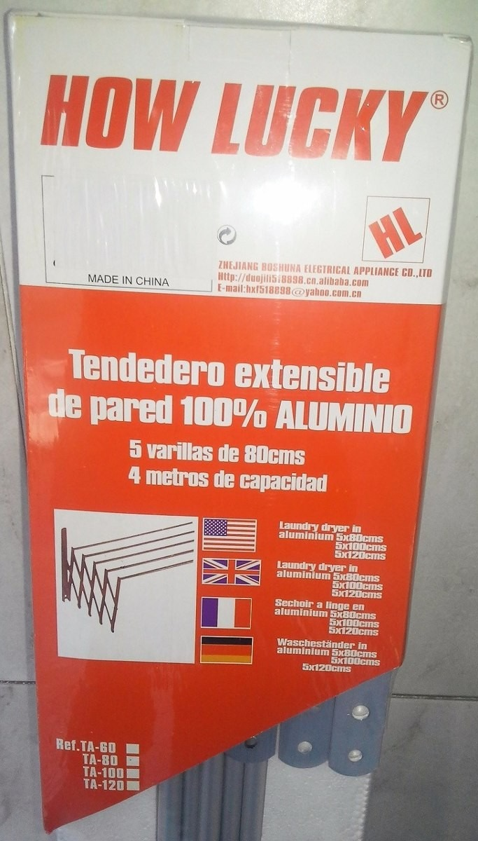 Tendedero extensible para pared o balcon de aluminio 1 - Tendedero de pared extensible ...