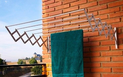 tendedero extensible para tender ropa ancho 80cm 10 varillas