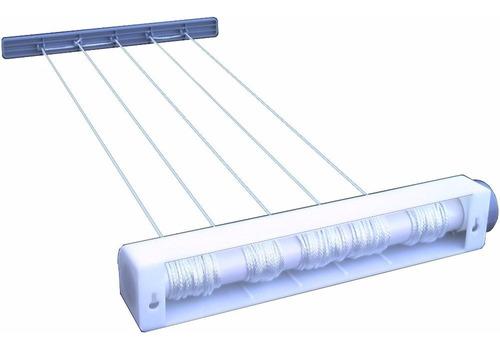 tendedero extensible retractil enrollable para tender ropa - de pared - resiste sol y lluvia