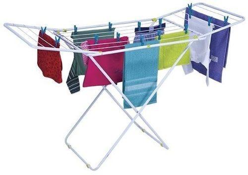 tendedero para tender ropa plegable con alas y sogas