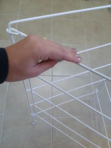 tendedero plastificado pie 3 alas para estufa