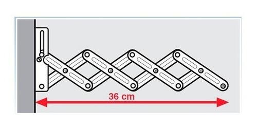 tendedero plegable de pared para ropa 36cm 5m rayen