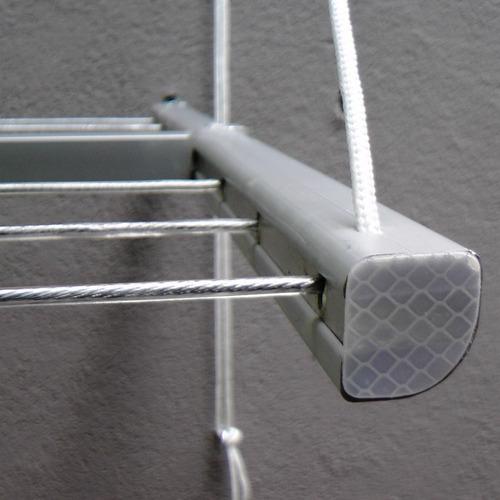 tendedero rebatible plegable pared aluminio para tender ropa - apto instalacion interior y exterior