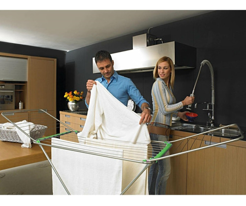 tendedero ropa tender pie plegable acero aluminio gimi italy