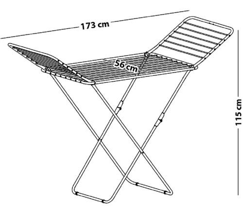 tendedero tender ropa pie plegable acero aluminio - marca gimi hecho en italia - excelente diseño