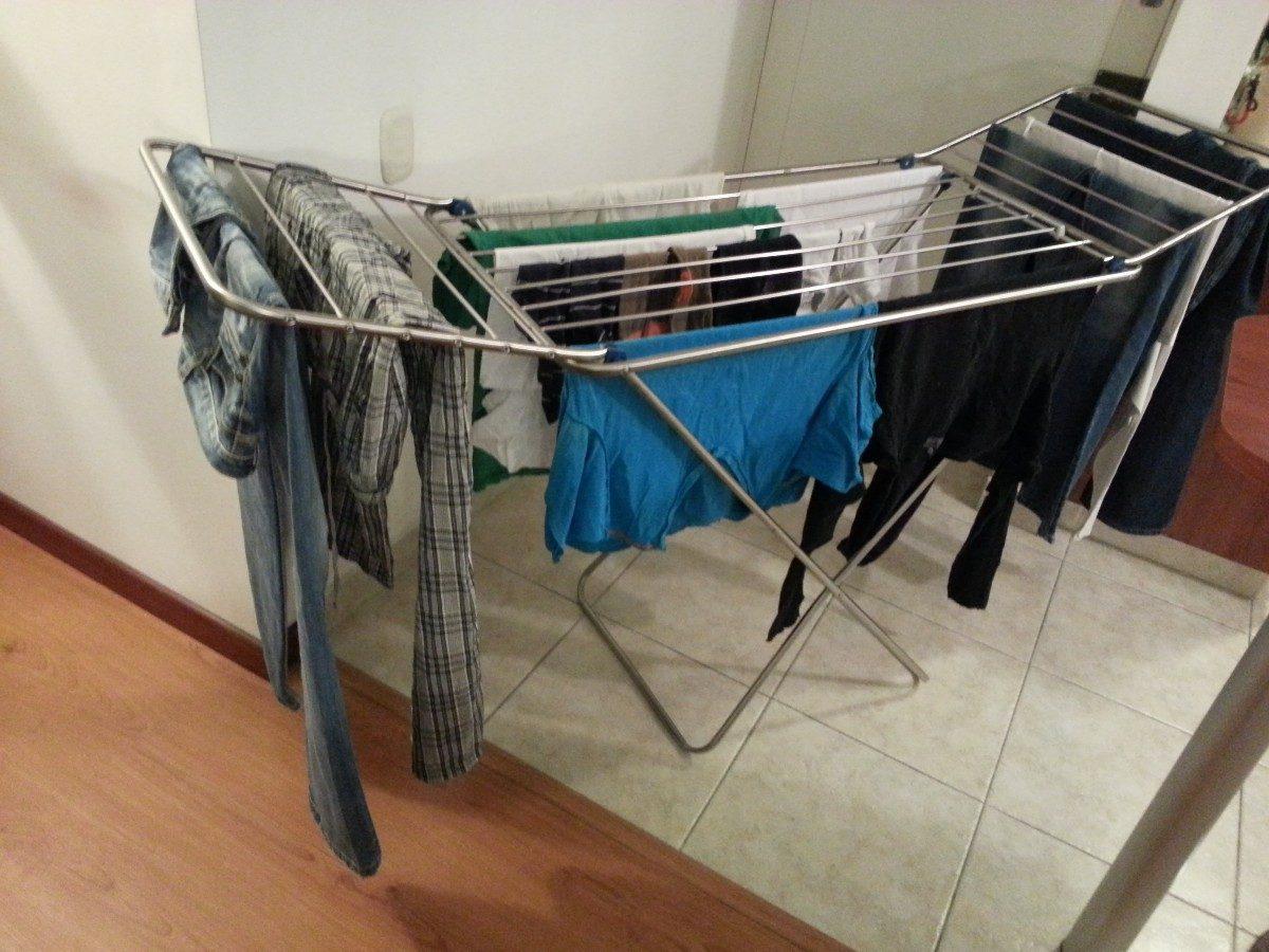 Tendederos de ropa plegable en aluminio en - Tendedero de ropa electrico ...