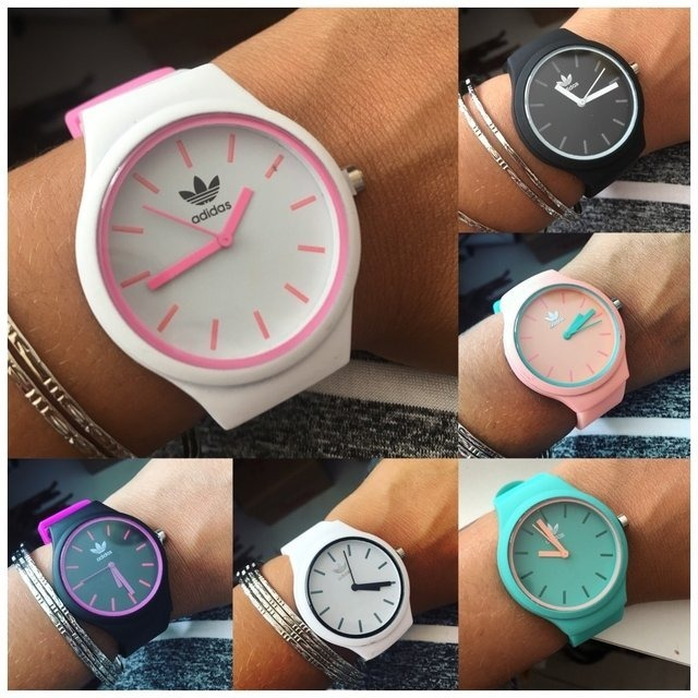 3af55e5dd12 Tendencia Kit 10 Pcs Relógio adidas Feminino adidas Colorido - R ...