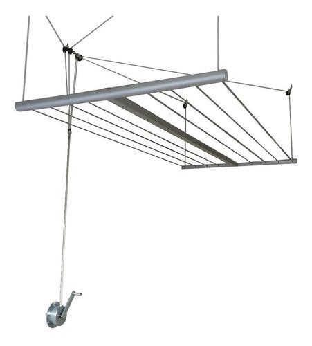 tender colgante tender de techo tendedero ropa - marca abaco - a manivela con estructura de aluminio