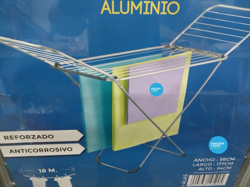tender  ropa aluminio premium  con alas plegable ramos mejia