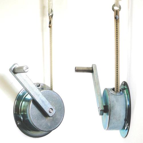 tender tendedero de techo colgante extra largo o ancho de aluminio con mecanismo elevador a manivela y reductor de peso