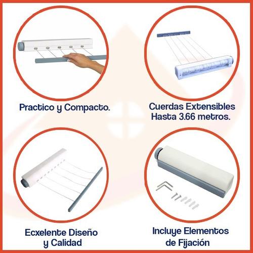 tender tendedero extensible retractil enrollable 5 sogas top