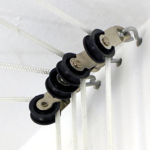 tender tendedero techo colgante manivela instalacion gratis - marca abaco reduce el peso