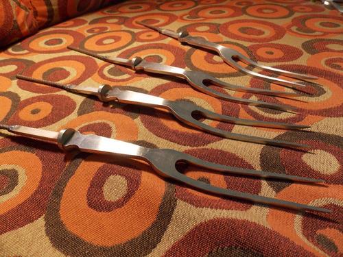 tenedores para encabar de acero inox parrilla trinche