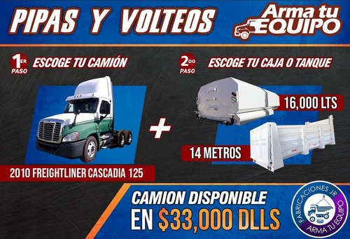 tenemos  lo mejor  en fabricaciones de camiones de pipas!!
