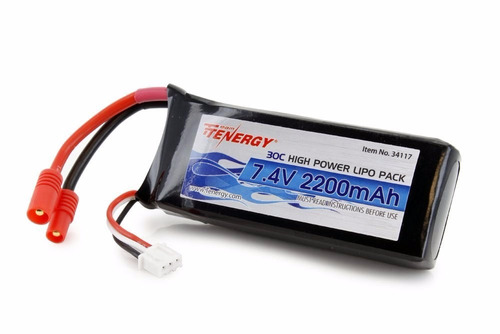 **tenergy 30c 7.4 v 2200mah  battery for syma  traxxas **