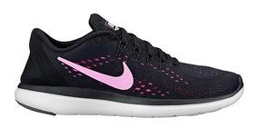 Teni Nike Flex 2017 Rn 898476 014 Negro Lila Dama Pv