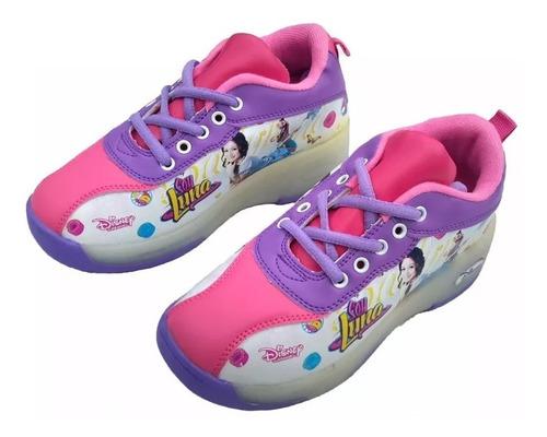 teni patin tenis con rueda luces niños y niñas soy luna