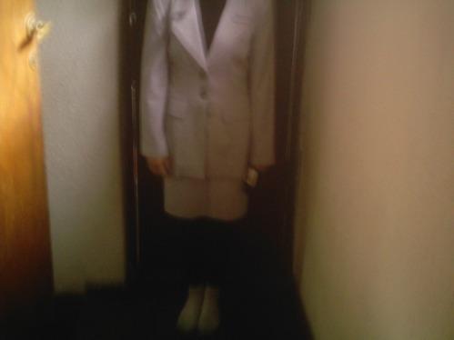 tenida para ejecutivas hermoso blazer mas falda color perla
