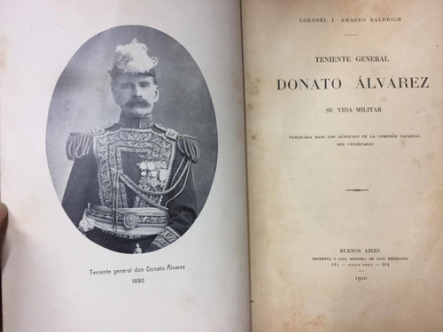 teniente general donato alvarez. baldrich. dedicado