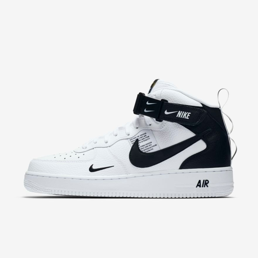 8c55dd4348353 tenis 2019 nike air force 1 07 mid utility blanco. Cargando zoom.