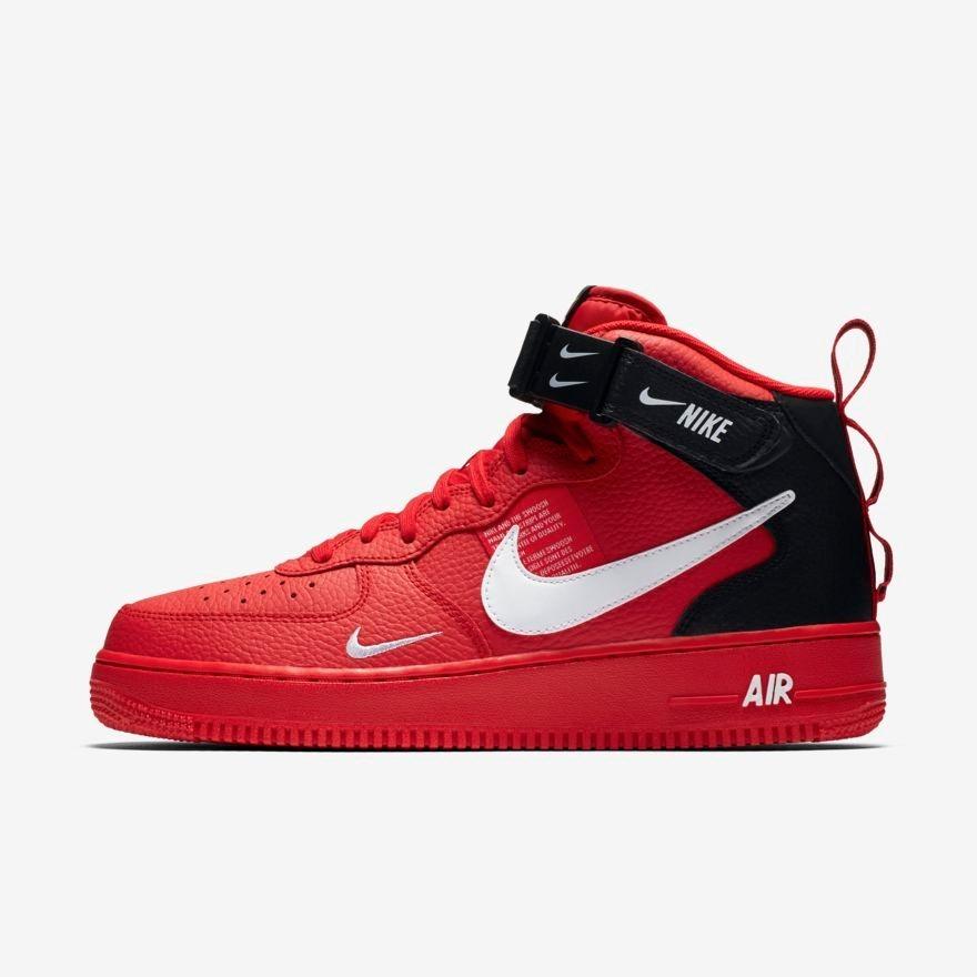 ecaec7b014e4a tenis 2019 nike air force 1 07 mid utility rojo. Cargando zoom.