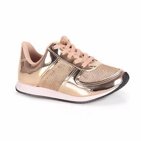 3bdc9f52585 Tênis Feminino Ouro rosado Vizzano 1234100 - Calçados