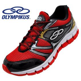 2f695243b42 Vermelho (ref  831) Running Tenis Olympikus Kryptus Preto - Tênis no ...