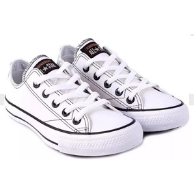 b308b6d13ab All Star Branco De Couro Original Converse - Converse no Mercado ...