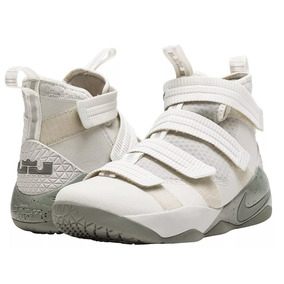 0976483536a46 Tênis Nike Lebron Soldier 11 Light Bone Dark Stucco
