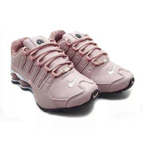 23e3e2b4092 Tênis Nike Shox Nz Eu Original Barato Rosa Feminino Top Novo