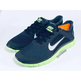e53f0138d4d Nike Air Free 4.0 V3 Black Eletric Ou Green Khaki 39 Corrida