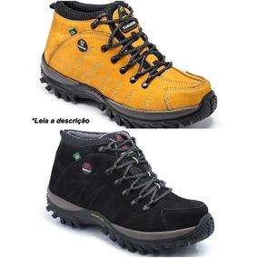 7d2c88ed18a Kit 2 Pares Bota Adventure Jipe Caminhada Rapel Couro 100%
