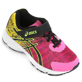 6aa738a705d Tenis Asics Gel Fantasy 2 Ps Infantil Cadarço Elastico Pink