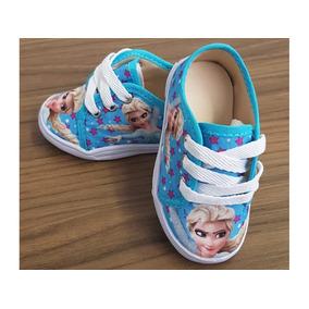 32ed4692a0b Tênis Baby Personagem Rainha Elsa - Frozen Com Cadarço