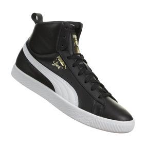 3c53bda27ad0a Tenis Bota Puma Clyde Mid Core Foil Negra Men No. 36580201