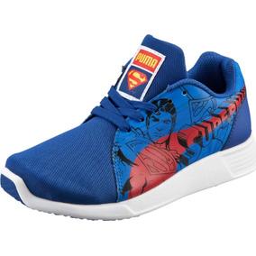 7080686cef5 Tenis Puma St Trainer Evo Superman Jr. Casuales Azul 40-01