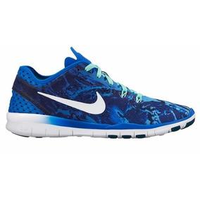 4f235d447aa Tênis Nike Free 5.0 Tr Fit 5 Runnig Print Blue Marceloshoes