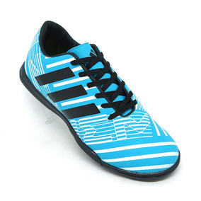 ff346d131d4a9 Chuteira adidas Nemeziz 17.4 Futsal Azul E Preto