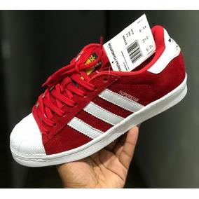 d4ee8026e99 Sapatos P  Mulheres  Homens Superstar Camurça 100% Original