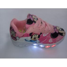 8e5597e608c Tênis Infantil Led Minne Mouse Frete Grátis