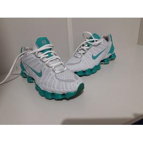 30460f82b8c Tenis Nike Shox Turbo 12 Branco E Vinho N° 43 Masculino - Tênis em ...