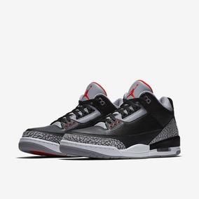 4a346b35de9 Tênis Nike Air Jordan 3 Retrô Og Black Cement