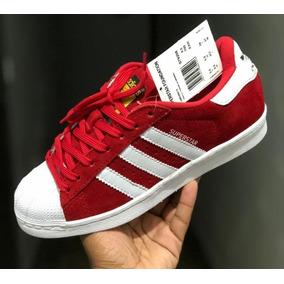 e0c8dc046f4 Tenis Adidas Superstar Colors Vermelho Star - Tênis no Mercado Livre ...