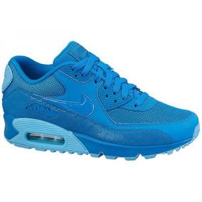 34450b4f97b Mujer Tenis Nike Air Max 90 Suela Capsula Azul Electrico Tvb