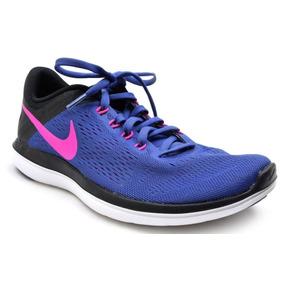3520c6486ab27 Zapatillas Para Funcionamiento Nike Wmns Flex 2016 Rn Azul 8
